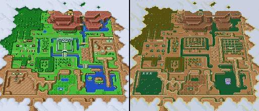 Zelda A Link to the Past overworld